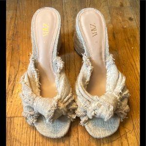 Zara chunky heel  sandals size 6
